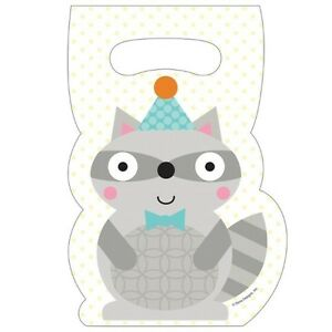 Happi Woodland Boy Forest Animals Party Supplies Treat Bags