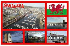 Swansea, SOUTH Gales - RECUERDO ORIGINAL Imán de NEVERA-MONUMENTOS/Ciudades-