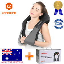LANDWIND Shiatsu Neck Shoulder Back Massager 3D Kneading Pillow Heat Deep AU