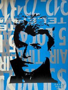 Peter Mars Art David Bowie Icon British Glam Fashion Starman Ziggy Stardust Iman
