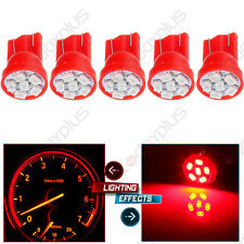 5Pcs T10 194 168 Red 6SMD LED Car Cluster Instruement Dash Bulb 12V Replacement