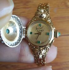 Igor Carl Faberge 14K Diamond & Emerald Limited Edition Ladies Covered Watch