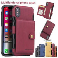 Fr iPhone 12 11 Pro MAX XS XR X 7 8 6 Plus Wallet Leather Case Card Holder Cover