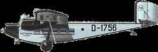 Ro-VIII Roland Rohrbach Germany Airplane Desk Wood Model Big New