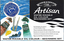 New! WINSOR & NEWTON-ARTISAN-Water Mixable Oil Color-Beginners Set-GREAT BARGAIN