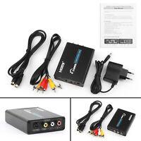 HDMI à 3RCA AV+S-Vidéo CVBS Composite R/L l'audio 1080P Converter EU Puissance ,