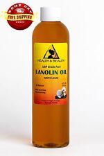 LANOLIN OIL USP GRADE PHARMACEUTICAL SKIN HAIR LIPS MOISTURIZING 100% PURE 8 OZ