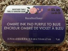 PURPLE TO BLUE Ombre Ink Pad By Recollection 534745 NEW