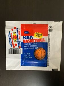 1986-87 Fleer NBA Basketball Wax Pack Wrapper - Double Bubble Variation