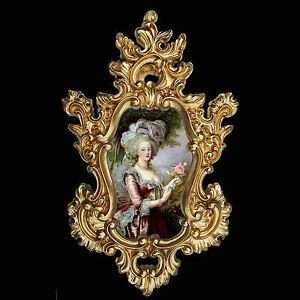 Marie Antoinette in Baroque frame. Var.1. Wall or Furniture mounts/decor.