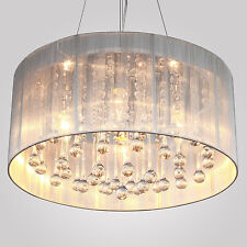 Flush Mount Drum Pendant Special Light Chandelier Cylinder Shade Fabric ONSALE E