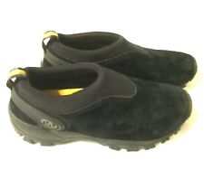 WOMEN'S MERRELL SHOES - Black Suede Slip On Hiking Jungle Moccasins ~ Size  8
