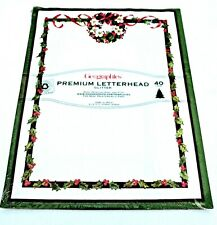 Geographics Wreath & Holly 40 count Holiday Glitter Letterhead Printer Paper