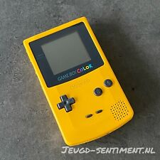 NINTENDO GAMEBOY COLOR YELLOW VERSION NEW SCREEN LENS CLEANED & TESTED