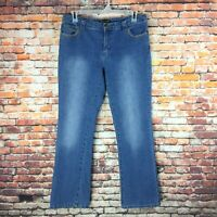 Baccini Womens Size 12 Bootcut Embellished Dark Wash Denim Jeans