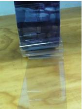 """Clear Plastic Dog Door Door Strip 6"""" Wide x 2 ft x 60mil"""