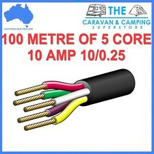 100M OF 5 CORE 0.25 10AMP WIRE CABLE TRUCK TRAILER BOAT CAR WIRING LED LIGHT