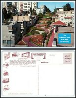 CALIFORNIA Postcard - San Francisco, The Crookedest Street in The World H17
