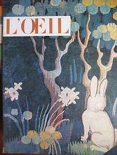 REVUE ART L'OEIL N° 89 de 1962 AN 1400 HAUG GRODECKI MINOTAURE MARCELLO D OLIVO