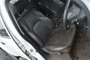 2014 NISSAN NAVARA D40 DRIVERS SIDE FRONT ELECTRIC BLACK LEATHER SEAT