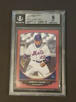 2013 Bowman Draft Red Parallel SP /5 BGS 9 Dominic Smith RC Rookie on Fire!!!!