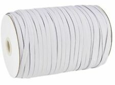 White and Black Flat Elastic Cord 5mm 6mm Masks Sewing Dressmaking Tailoring