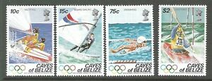 CAYES OF BELIZE :1984 Olympic Games  set  SCOTT 14/17 MNH