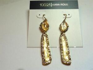 Kara Ross Yellow Bar Drop Goldtone Earrings