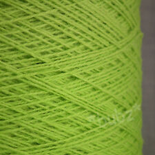 PURE MERINO WOOL 2 3 PLY 500g CONE 10 BALLS LIME GREEN YARN HAND MACHINE KNIT