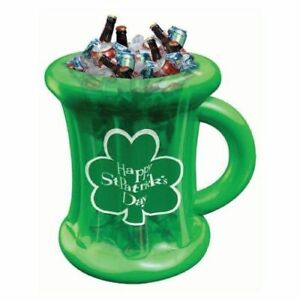 St. Patricks Day Party Supplies Inflatable Beer Mug Cooler Decoration (Over 2ft)