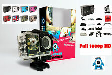 New HD 1080P WIFI Waterproof Sports Cam Action Full Video DVR Camera Black UK