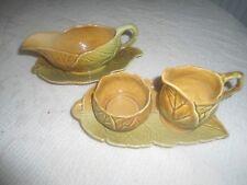 Royal Winton Grimwades Leaf Design Set sauce boat creamer& sugar with Stands