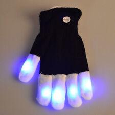 Fashion Black LED Flashing Glove Glow Cool 7 Mode Light Up Finger Lighting AU