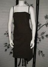 NEW TARA JARMON Alphee M 42 brown weave dropped waist wool cocktail dress FRANCE