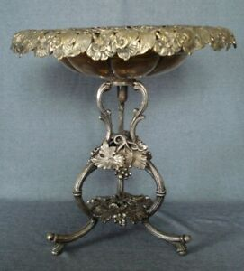 Imperial Russian Fraget Warsaw Poland Silver Plate Fruit Basket Dish