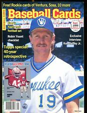 Baseball Cards Magazine September 1990 Robin Yount w/Mint Cards jhscd4