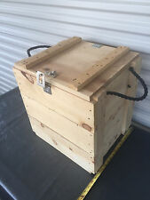 "Wooden Ammo Box Crate 15"" x 18"" x 18"" New missing latch"