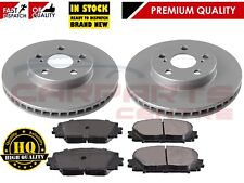 FOR TOYOTA PRIUS 1.8 VVT-i ZVW30 FRONT 255mm BRAKE DISCS PADS 2009-2015