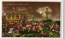 Norfolk; The Promenade, Great Yarmouth, By Night RP PPC Unposted, By Valentines