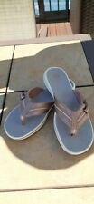 Clarks Cloudsteppers Adjustable Thong Rose Metallic Pink Flip Flops - Size 8
