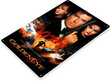 TIN SIGN 007 Golden Eye James Bond Movie Poster Home Theater A001