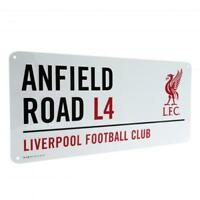 Liverpool Fc Street Sign Anfield Road L4 LFC Team Fan New OFFICIAL GIFT