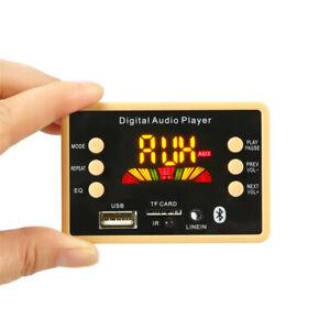 Bluetooth 5.0 MP3 Decoding Board Module 12V Wireless Car USB MP3 Player