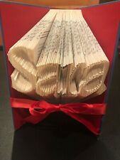 Custom Folded Book Art Name gift birthday anniversary proposal greek wedding