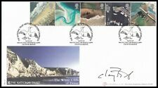 SIR CHAY BLYTH Signed 2002 GB British Coastlines The White Cliff's of Dover FDC