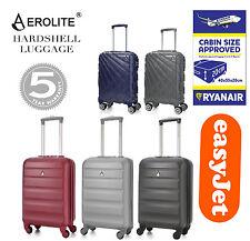 "CLEARANCE Aerolite 21"" 55cm 4 Wheel Spinner Hard shell Cabin Hand Luggage Deals"