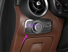 For Alfa Romeo Stelvio 2017-2018 Carbon fiber style Headlight switch button fram