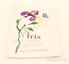 Crabtree & Evelyn IRIS Body Lotion Sample Packet 0.17 oz 5 ml NEW NWOB