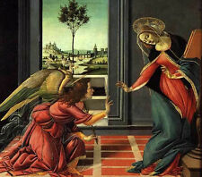Dream-art Oil painting Sandro Botticelli - Cestello Annunciation Madonna & angel