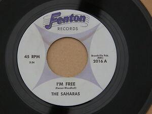 "SAHARAS I'M FREE FENTON orig US GARAGE MOD BEAT DANCER  7"" 45"